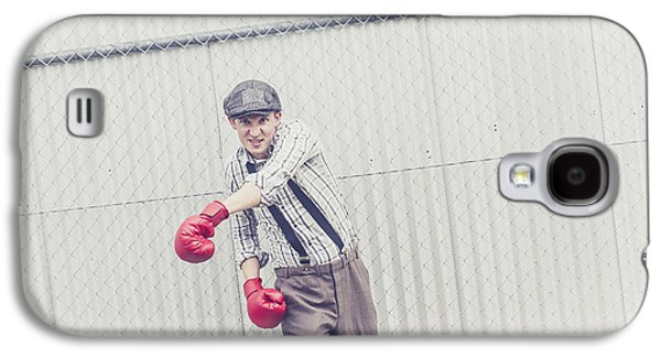 Young Male Boxer Throwing A Offensive Jab Galaxy S4 Case