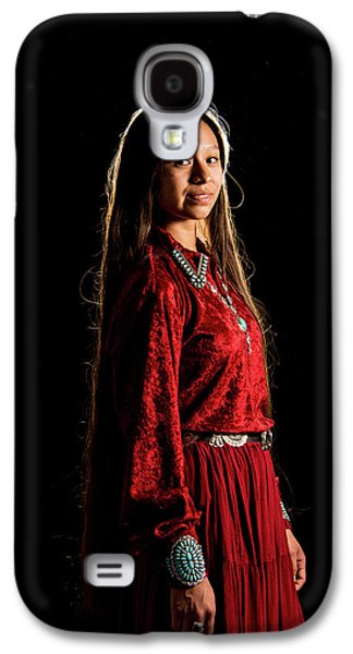 Young Navajo Girl Dressed In Finery Galaxy S4 Case by Elizabeth Hershkowitz