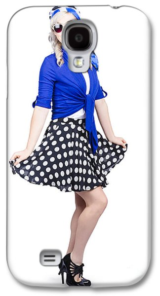 Young Stylish Caucasian Woman Posing For Photo Galaxy S4 Case