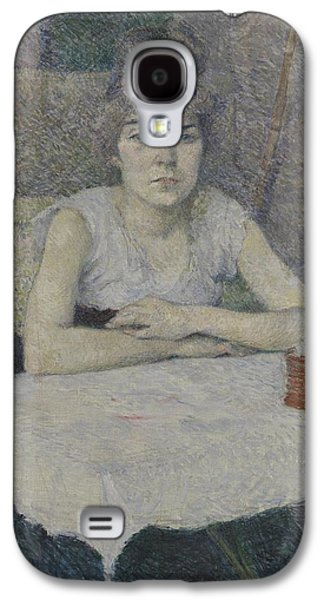 Young Woman At A Table Galaxy S4 Case