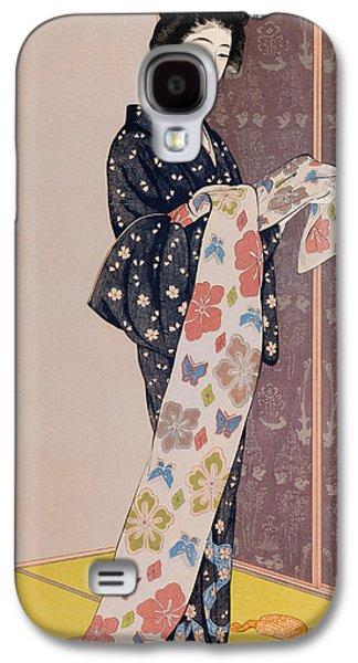 Young Woman In A Summer Kimono Galaxy S4 Case by Goyo Hashiguchi