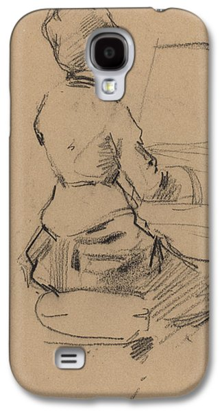 Young Woman Seated At A Piano Galaxy S4 Case