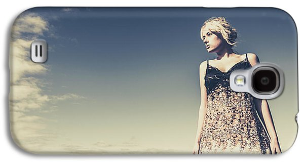 Young Woman Standing On The Beach Galaxy S4 Case by Jorgo Photography - Wall Art Gallery