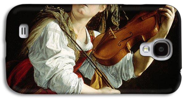 Violin Galaxy S4 Case - Young Woman With A Violin by Orazio Gentileschi