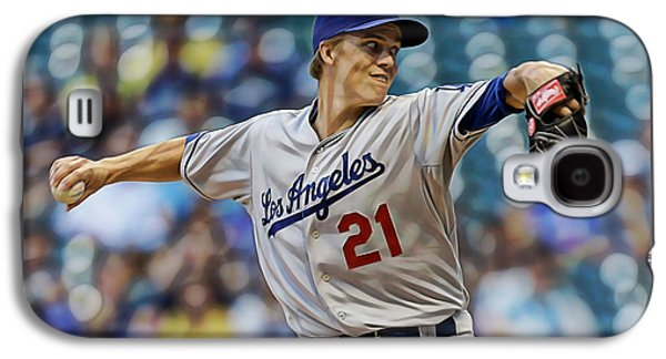 Zack Greinke Los Angeles Dodgers Galaxy S4 Case by Marvin Blaine