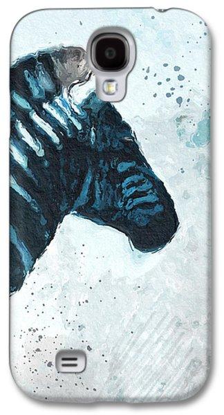 Zebra- Art By Linda Woods Galaxy S4 Case by Linda Woods