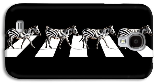 Zebra Crossing In Black And White Galaxy S4 Case by Gill Billington