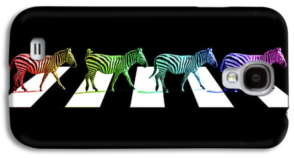 Zebra Crossing Pop Art On Black And White Galaxy S4 Case by Gill Billington