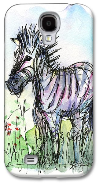 Zebra Painting Watercolor Sketch Galaxy S4 Case by Olga Shvartsur