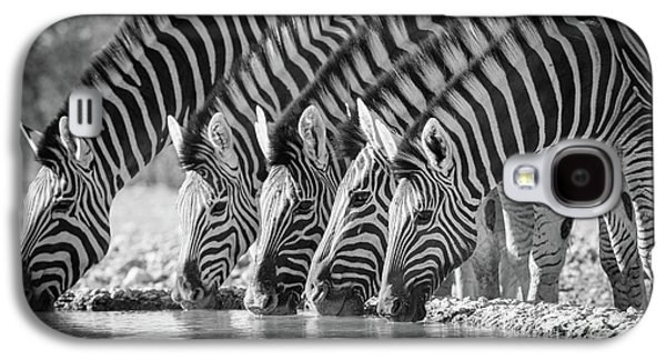 Zebras Drinking Galaxy S4 Case by Inge Johnsson