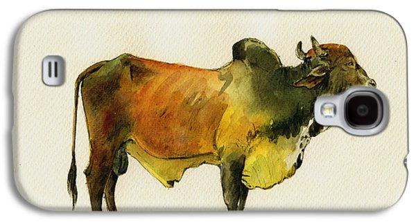 Zebu Cattle Art Painting Galaxy S4 Case