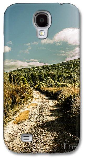 Zeehan Dirt Road Landscape Galaxy S4 Case by Jorgo Photography - Wall Art Gallery
