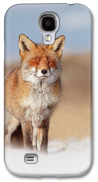 Zen Fox Series- Smiling Fox In The Snow Galaxy S4 Case