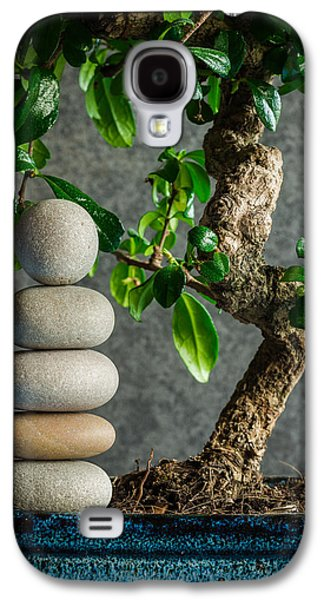 Zen Stones And Bonsai Tree II Galaxy S4 Case by Marco Oliveira