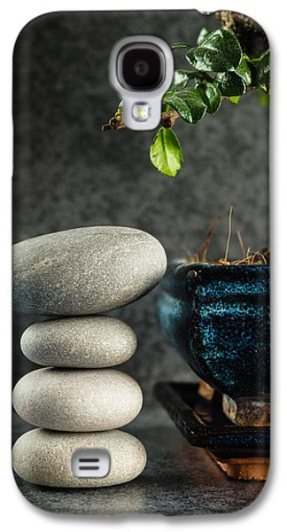 Zen Stones And Bonsai Tree Galaxy S4 Case by Marco Oliveira