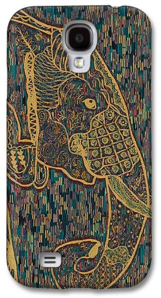 Zentangle Elephant-oil Gold Galaxy S4 Case