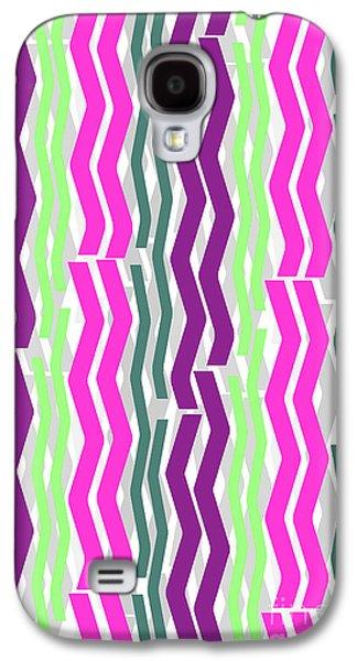 Zig Zig Stripes Galaxy S4 Case
