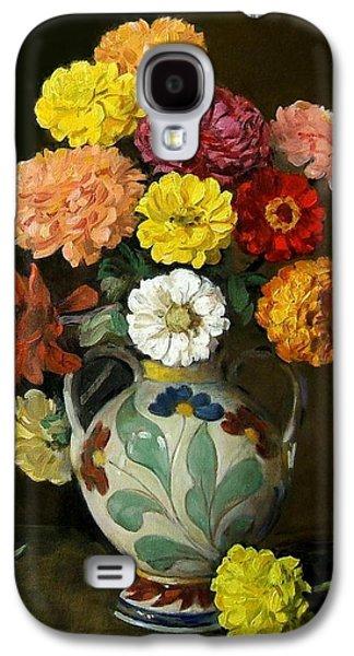 Zinnias In Decorative Italian Vase Galaxy S4 Case