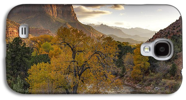 Zion National Park Autumn Galaxy S4 Case by Leland D Howard