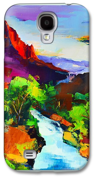 Zion - The Watchman And The Virgin River Galaxy S4 Case