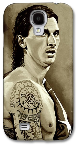 Zlatan Ibrahimovic Sepia Galaxy S4 Case by Paul Meijering