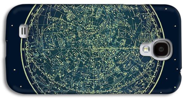 Zodiac Star Map Galaxy S4 Case by Marianna Mills