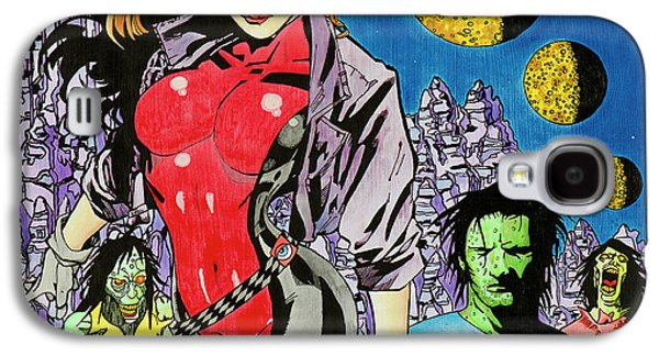 Zombie Encounter At Three Moon Canyon Galaxy S4 Case by Alan Morrison