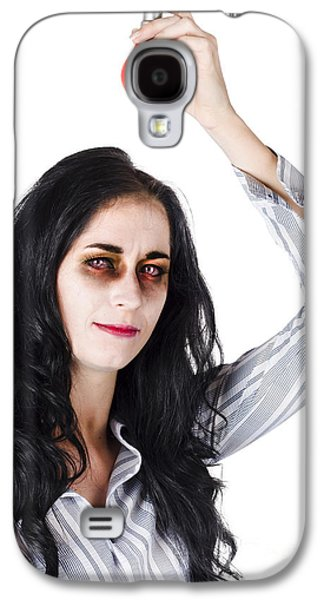 Zombie Holding Warning Light Galaxy S4 Case