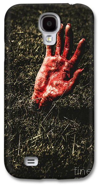 Zombie Rising From A Shallow Grave Galaxy S4 Case