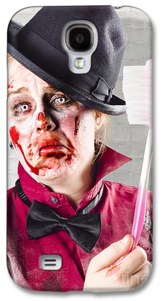 Zombie With Big Toothbrush. Fear Of The Dentist Galaxy S4 Case by Jorgo Photography - Wall Art Gallery
