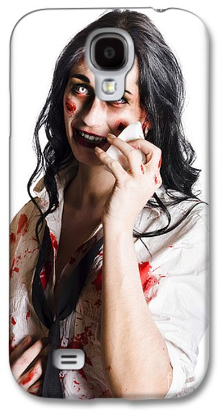 Zombie Woman Distressed Galaxy S4 Case by Jorgo Photography - Wall Art Gallery