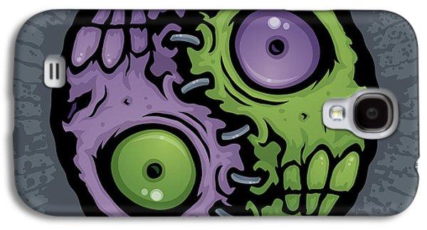 Zombie Yin-yang Galaxy S4 Case by John Schwegel