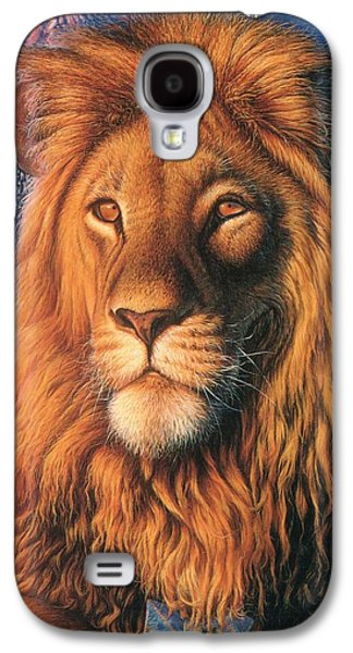Zoofari Poster The Lion Galaxy S4 Case by Hans Droog