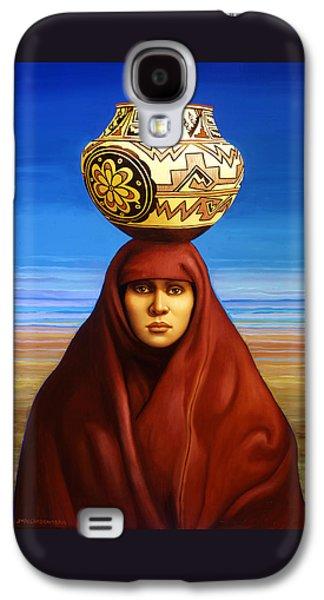 Zuni Woman Galaxy S4 Case by Jane Whiting Chrzanoska