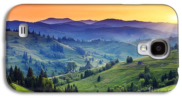 Travel Galaxy S4 Case - Majestic Sunset In The Mountains by Creative Travel Projects