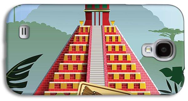 International Travel Galaxy S4 Case - Acient Mayan Pyramid by Nikola Knezevic