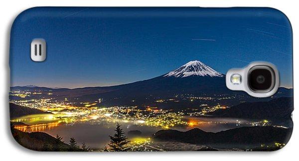 International Travel Galaxy S4 Case - Aerial Mount Fuji With Kawaguchiko Lake by Vichie81