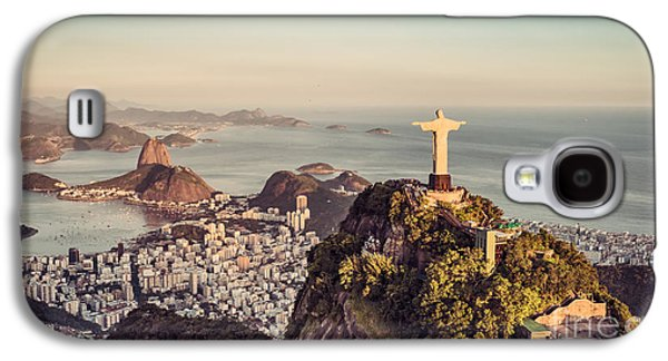 International Travel Galaxy S4 Case - Aerial Panorama Of Botafogo Bay And by Marchello74