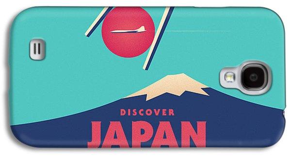 Travel Galaxy S4 Case - Retro Japan Mt Fuji Tourism - Cyan by Ivan Krpan
