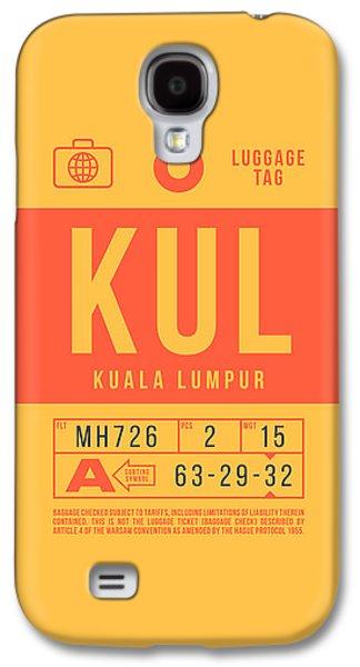 International Travel Galaxy S4 Case - Retro Airline Luggage Tag 2.0 - Kul Kuala Lumpur International Malaysia by Ivan Krpan