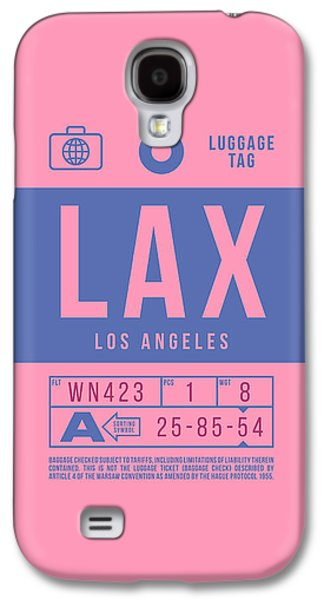 International Travel Galaxy S4 Case - Retro Airline Luggage Tag 2.0 - Lax Los Angeles International Airport United States by Ivan Krpan