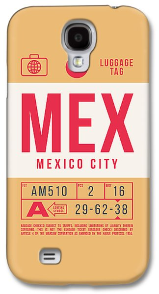 International Travel Galaxy S4 Case - Retro Airline Luggage Tag 2.0 - Mex Mexico City International Airport Mexico by Ivan Krpan