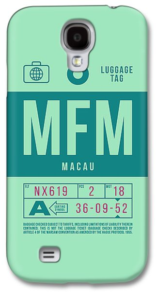 International Travel Galaxy S4 Case - Retro Airline Luggage Tag 2.0 - Mfm Macau International Airport by Ivan Krpan