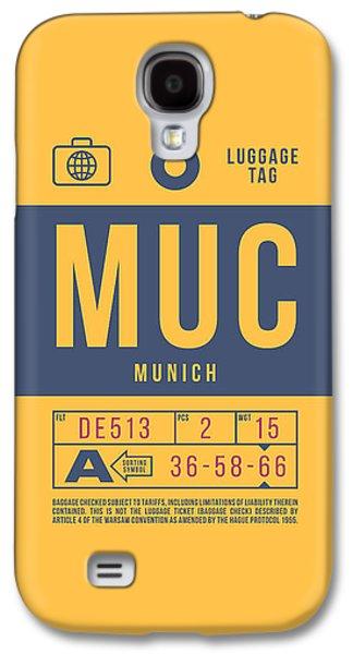 International Travel Galaxy S4 Case - Retro Airline Luggage Tag 2.0 - Muc Munich International Airport Germany by Ivan Krpan
