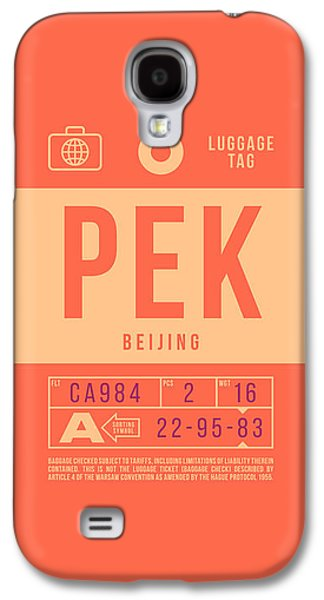 International Travel Galaxy S4 Case - Retro Airline Luggage Tag 2.0 - Pek Beijing International Airport China by Ivan Krpan