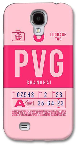 International Travel Galaxy S4 Case - Retro Airline Luggage Tag 2.0 - Pvg Shanghai International Airport China by Ivan Krpan