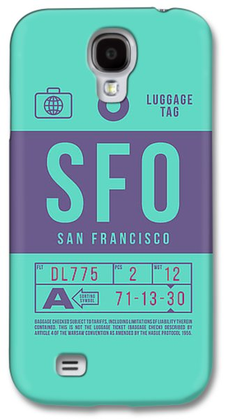 International Travel Galaxy S4 Case - Retro Airline Luggage Tag 2.0 - Sfo San Francisco International Airport United States by Ivan Krpan
