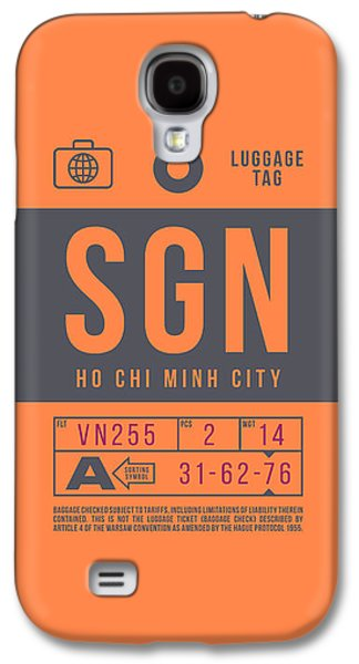International Travel Galaxy S4 Case - Retro Airline Luggage Tag 2.0 - Sgn Ho Chi Minh City International Airport Vietnam by Ivan Krpan