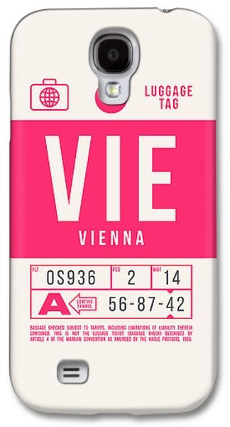 International Travel Galaxy S4 Case - Retro Airline Luggage Tag 2.0 - Vie Vienna International Airport Austria by Ivan Krpan