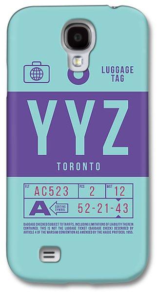 International Travel Galaxy S4 Case - Retro Airline Luggage Tag 2.0 - Yyz Toronto International Airport Canada by Ivan Krpan